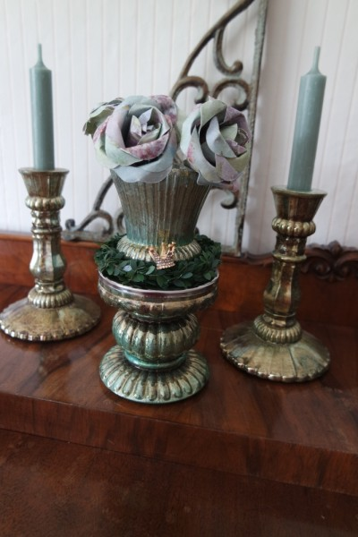 Chic Antique - Teelichthalter antique verte