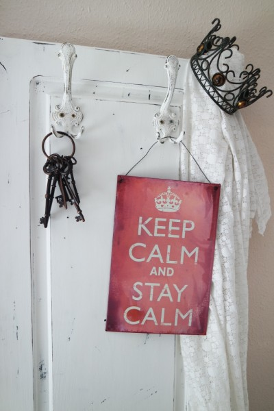 "Super tolles Blechschild ""Keep calm and carry on"""